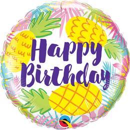 18 inch-es Birthday Pineapple Fólia Lufi