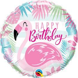 18 inch-es Birthday Pink Flamingo Fólia Lufi
