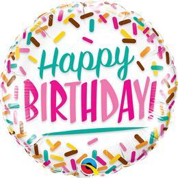 18 inch-es Birthday Sprinkles Fólia Lufi
