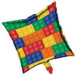 18 inch-es Block Party - Lego Héliumos Fólia Lufi