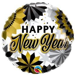 Boldog Új Évet - New Year Héliumos Fólia Lufi, 46 cm