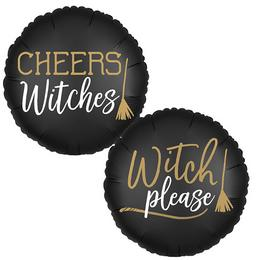 18 inch-es Cheers Witches! - Witch Please! Halloween Fólia Lufi