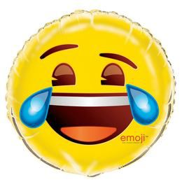 Emoji Sírva Nevetős Héliumos Fólia Lufi, 45 cm