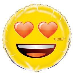 18 inch-es Emoji Szerelmes Szemű Fólia Lufi