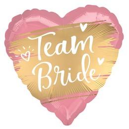 Team Bride Lánybúcsús Héliumos Fólia Lufi, 46 cm