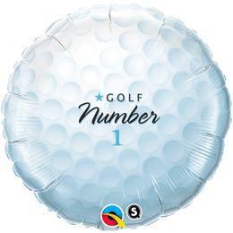 18 inch-es Golf Labda - Golf Ball Number 1 Héliumos Fólia Lufi