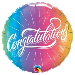 Gratulálunk Ballagási Héliumos Fólia Lufi, 46 cm