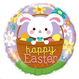 Húsvéti Nyuszi - Happy Easter Héliumos Fólia Lufi, 46 cm