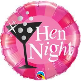 18 inch-es Hen Night! Rózsaszín Fólia Lufi Lánybúcsúra