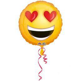 18 inch-es Love Emoticon Szerelmes Héliumos Fólia Lufi