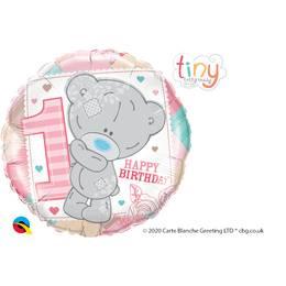 18 inch-es Macis - Tatty Teddy Birthday 1st Szíves Szülinapi Fólia Lufi
