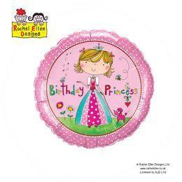 18 inch-es Rachel Ellen - Birthday Princess Héliumos Fólia Lufi