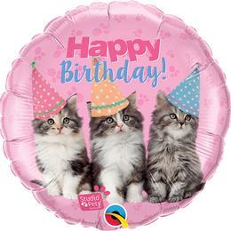 18 inch-es Studio Pets - Birthday Kittens Szülinapi Fólia Lufi
