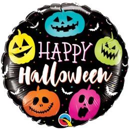 18 inch-es Színes Tökfejek - Halloween Jack Faces Halloween Fólia Lufi