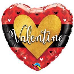 18 inch-es Valentine Burnished Heart Gold Szerelmes Szív Héliumos Fólia Lufi