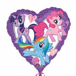 18 inch-es My Little Pony Szív Héliumos Fólia Lufi
