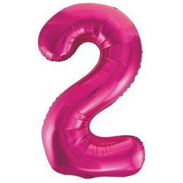 2-es Pink Számos Héliumos Fólia Lufi, 86 cm
