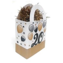 20-as Elegáns Léggömbös Szülinapi Ajándéktasak Léggömbsúly - 120 gramm
