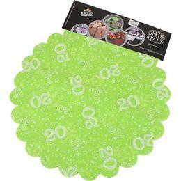 20-as Lime Zöld Szülinapi Kerek Dekorációs Textil - 48 cm-es, 24 db-os