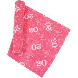 20-as Pink Szülinapi Asztali Futó, 37 cm-es, 5 méter