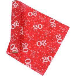 20-as Piros Szülinapi Asztali Futó, 37 cm-es, 5 méter