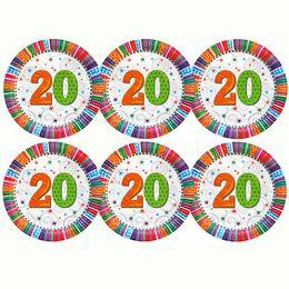 20-as Szülinapi Csillagos Parti Tányér