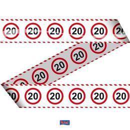 20-as Számos Sebességkorlátozó Szülinapi Parti Szalag - 15 m