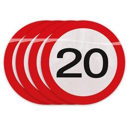20-as Számos Sebességkorlátozó Szülinapi Parti Szalvéta - 30 cm, 20 db-os