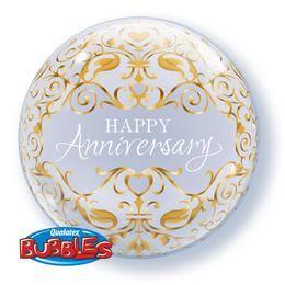 22 inch-es Anniversary Classic Gold Bubble Lufi
