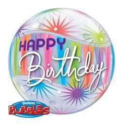22 inch-es Birthday Sorbet Starburst Szülinapi Héliumos Bubbles Lufi