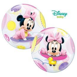 22 inch-es Disney Baby Minnie Bubbles Lufi Babaszületésre