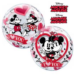 Disney Bubbles Mickey & Minnie I Love You Szerelmes Bubbles Lufi