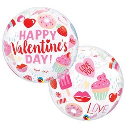22 inch-es Everythings Valentine's - Valentin-napi Ikonok Bubble Lufi