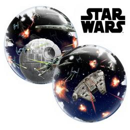 24 inch-es Disney Star Wars Death Star Héliumos Double Bubble Lufi