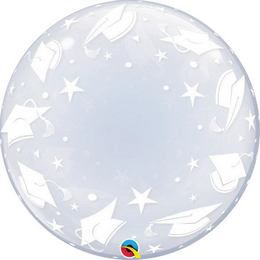 24 inch-es Graduation Caps Deco Bubble Lufi