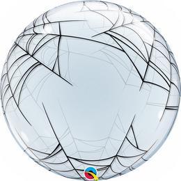 24 inch-es Pókháló - Spider's Web Deco Bubble Lufi