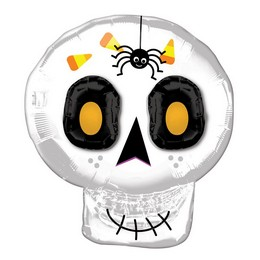 25 inch-es Koponya - 3D Cute Halloween Skull Super Shape Fólia Lufi Halloween-re