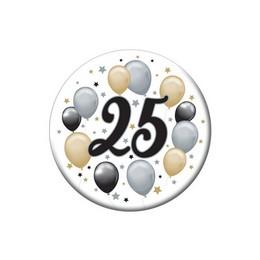 25-ös Elegáns Léggömbös Szülinapi Kitűző