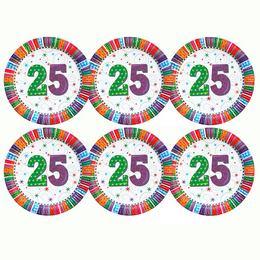 25-ös Szülinapi Csillagos Parti Tányér