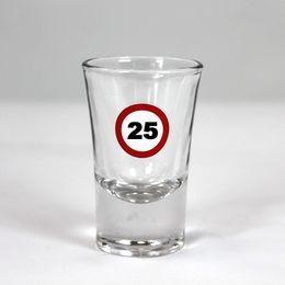 25-ös Sebességkorlátozó Szülinapi Feles Üvegpohár