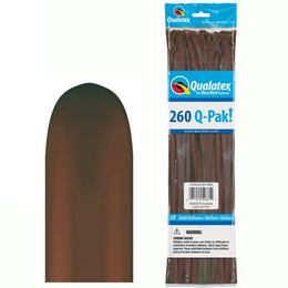 260Q Chocolate Brown (Fashion) Q-Pak Party Modellező Lufi (50 db/csomag)