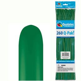 Zöld Q-Pak Party Kukac Lufi - Normál, 50 db