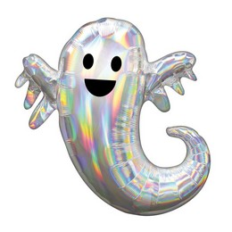 Irizáló Szellem Super Shape Fólia Lufi Halloween-re