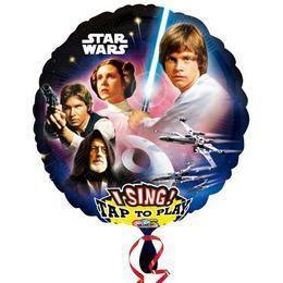 28 inch-es Star Wars Éneklő Héliumos Fólia Lufi