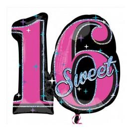 Sweet 16 Héliumos Fólia Lufi, Super Shape