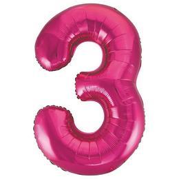 3-as Pink Számos Héliumos Fólia Lufi, 86 cm