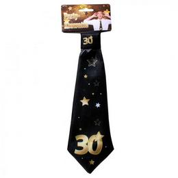 30-as Arany Fekete Csillagos Szülinapi Nyakkendő