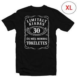 30-as Limitált Kiadás Számos Szülinapi Póló, XL-es