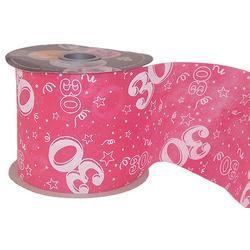 30-as Pink Szülinapi Dekorációs Szalag, 12,5 cm, 50 méteres