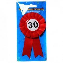 30-as Sebességkorlátozós Szalagos Szülinapi Kitűző